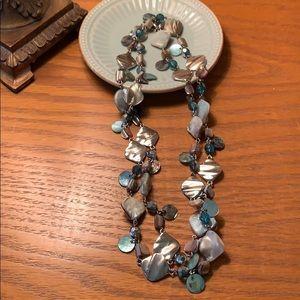 Lia Sophia coral colored necklace